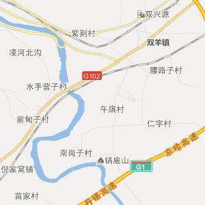 凌海市松山镇高清行政地图