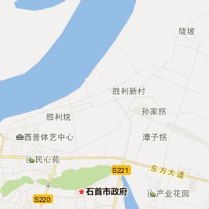 荆州石首市地图】湖北省荆州石首...